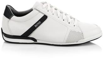 HUGO BOSS Saturn Leather Low-Top Sneakers