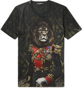 Dolce & Gabbana - Lion Printed Cotton-jersey T-shirt