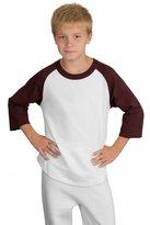 Sport-Tek raglan sleeve youth baseball t-shirt