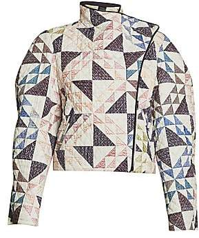 Isabel Marant Men's Bonnie Quilted Cropped Jacket