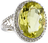 Ring 14K Quartz & Diamond