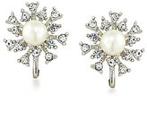 Carolee 21 Club Crystal Burst & Faux-Pearl Stud Clip-On Earrings