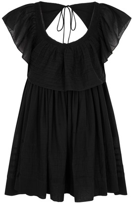Free People Hailey black cotton mini dress