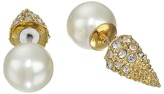 Sam Edelman Pearly Punk Pearl Pave Stud Earrings