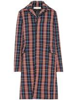 Marni Checked stretch cotton coat