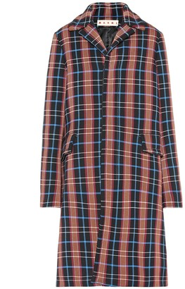 Marni Checked stretch cotton coat