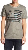 William Rast Camo Flag Graphic Print Tee Shirt