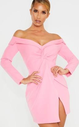 Bardot 4fashion Pink Knot Detail Blazer Dress