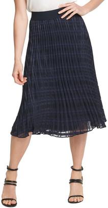 DKNY Pull On Pleated Midi Skirt