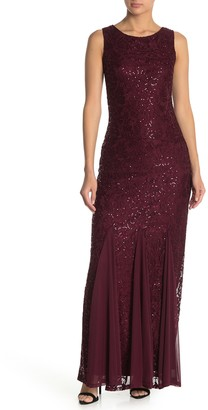 Onyx Nite Sequin Lace Gown (Regular & Plus Size)