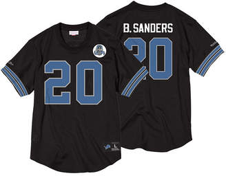 Mitchell & Ness Men Barry Sanders Detroit Lions Name & Number Mesh Crewneck Top