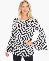 Chico's Linear Enchantment Flare-Sleeve Top