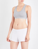Sunspel Racerback stretch-cotton cropped top