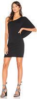 Bobi Drape One Shoulder Mini Dress