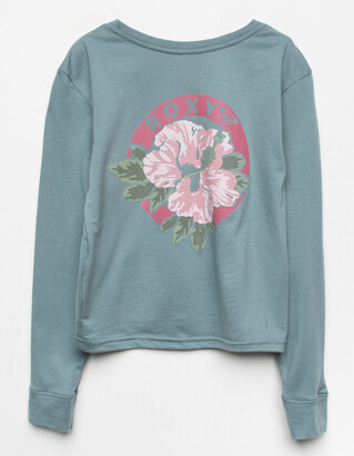 Roxy Throwback Hibiscus Girls Tee