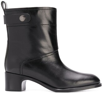 See by Chloe Wide Leather Ankle Boots