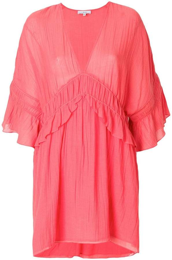 IRO ruffled sleeves mini dress