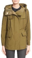 Burberry 'Parkfield' Hooded Drawstring Waist Jacket