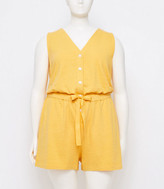 LOFT Plus Beach Button V-Neck Romper