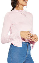 Topshop Frill Long-Sleeved Top