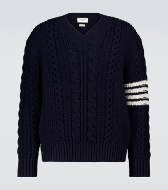 Thom Browne Aran cable knitted sweater