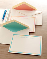 Horchow 50 Pastel and Gold Bordered Cards/Plain Envelopes
