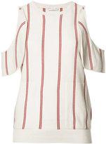 Brunello Cucinelli cut-off shoulder knitted blouse - women - Silk/Cashmere/Virgin Wool - XS