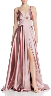 Couture Faviana Draped Charmeuse Gown