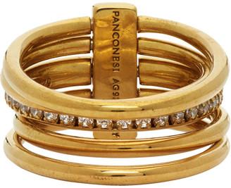 Panconesi Gold Solar Crystal Ring Set