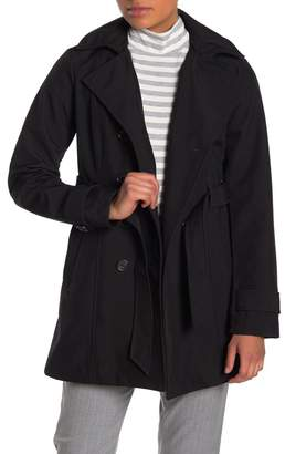 Sebby Soft Shell Double Breast Water Resistant Trench Coat