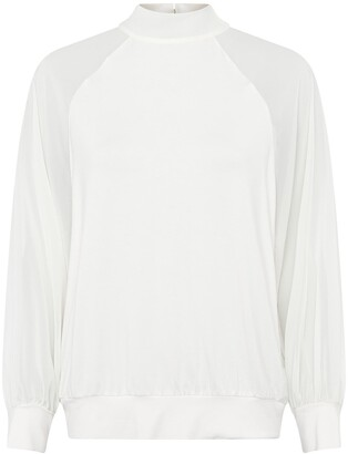 French Connection Noemi Woven Long Sleeve Top