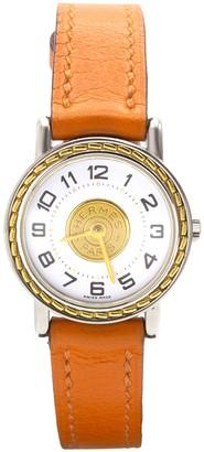 Hermã ̈S HermAs Sellier Orange gold and steel Watches