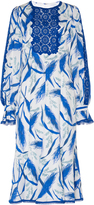 Andrew Gn Long Sleeve Printed Dress