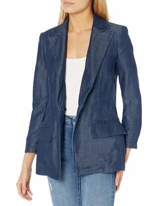 Emporio Armani Women's Denim One Button Blazer
