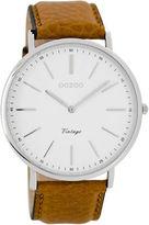 NEW Vintage slimline silver watch (tan or black) Men's by oozoo australia