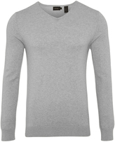 Oxford Cotton V-Neck Pullover