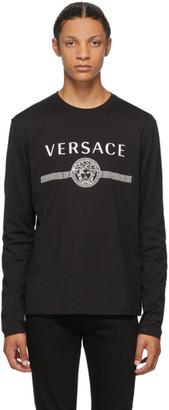 Versace Black Medusa Logo Long Sleeve T-Shirt
