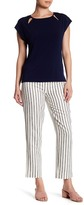Laundry by Shelli Segal Cropped Striped Straight Leg Pant