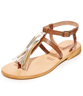 Cocobelle Gallipoli Fringe Thong Sandals