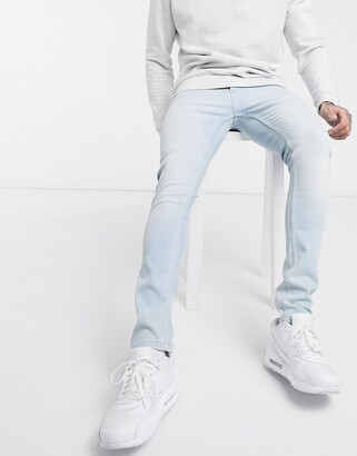 LDN DNM super skinny fit jeans in light blue wash