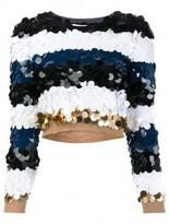 Sonia Rykiel sequined striped jumper