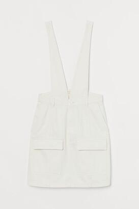 H&M Denim Overall Dress - White
