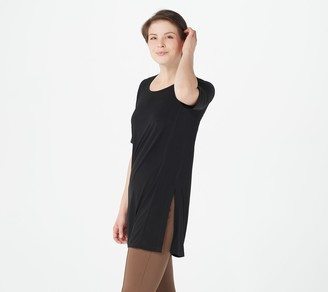 Susan Graver Every Day by Regular Liquid Knit Tunic w/ Slits