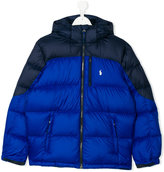 Ralph Lauren color block padded jacket