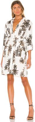le superbe Cannabis Palm Shirt Dress