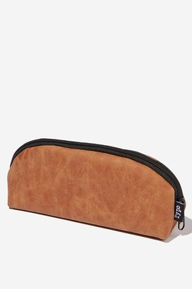 Typo Curved Pencil Case