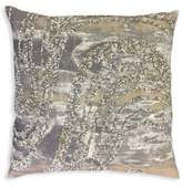 Callisto Home Hand Beaded Printed Linen Pillow