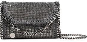 Stella McCartney Falabella Crystal-embellished Faux Brushed-leather Shoulder Bag