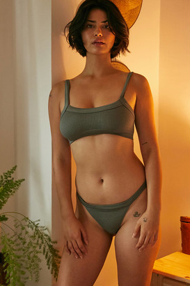 Out From Under Snap Dragon Waffle Knit Thong