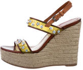 Christian Dior Embellished Espadrille Wedges